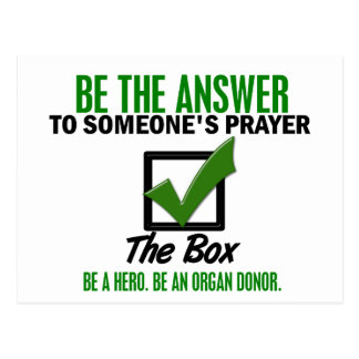 Carte Postale Vérifiez la boîte soit un donateur d'organe 3