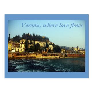 Carte Postale Vérone, où l'amour coule