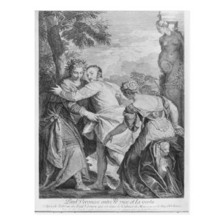 Carte Postale Veronese entre le vice et la vertu
