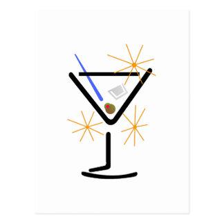 Carte Postale Verre de Martini