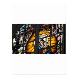 Carte Postale Verre souillé Jésus et Vierge Marie