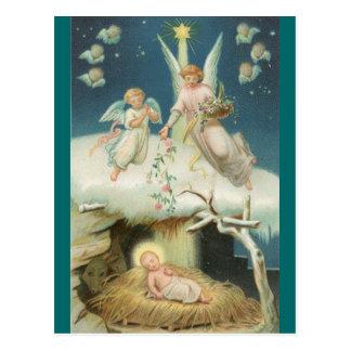 Carte postale (vers de bible) : Cadeau des roses