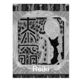 Carte Postale Version noire et blanche - Reiki n Karuna