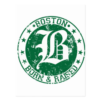 Carte Postale Vert augmenté soutenu par Boston
