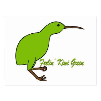 Carte Postale Vert de kiwi de Feelin