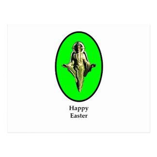 Carte Postale Vert heureux de Cantorbéry d'image de Pâques le