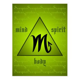 Carte Postale Vert holistique d'esprit de corps d'esprit de