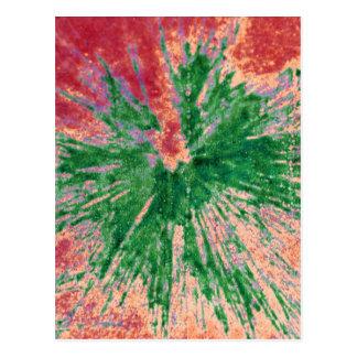 Carte Postale Vert sur le Paintball rouge et orange