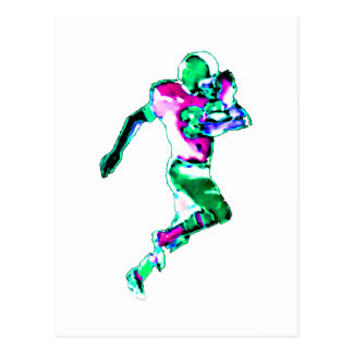 Carte Postale Vert Transp de coureur du football le GIF de