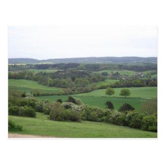 Carte postale verte et agréable de terre