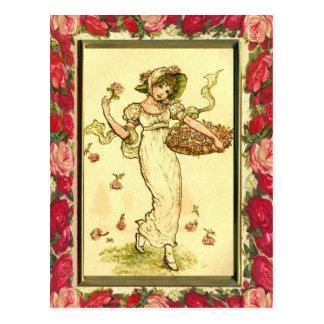 Carte Postale Victorian Flower Girl