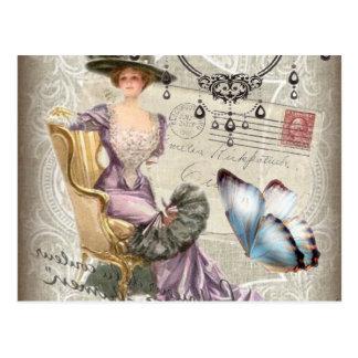 Carte Postale victorian girly de cru de lustre