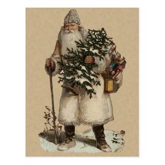 Carte postale victorienne de Noël