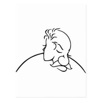 Carte Postale Vieil homme ou jeune Madame illusion optique
