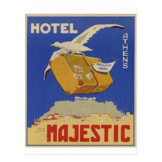 Carte Postale Vieil hôtel d'Athènes Grèce d'annonce majestueux