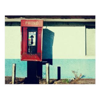 Carte Postale Vieille boîte rouge de téléphone de téléphone