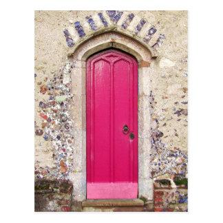 Carte Postale Vieille porte rose