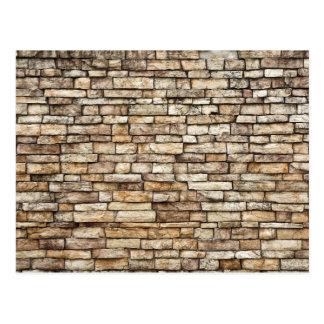 Carte Postale Vieille texture en pierre de mur de briques