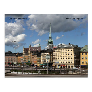 Carte Postale Vieille ville, Stockholm, Ola B de photo…