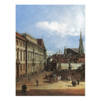 Carte Postale Vienne, le Lobkowitzplatz par Bernardo Bellotto