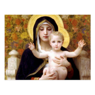 Carte Postale Vierge des lis, William-Adolphe Bouguereau