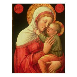 Carte Postale Vierge et enfant, c.1465 (huile sur le panneau)