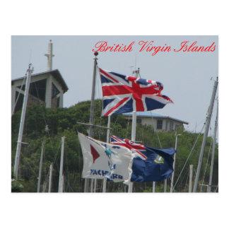 Carte Postale Vierge Gorda de drapeaux @