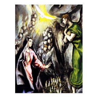 Carte Postale Vierge Marie annonce d'El Greco