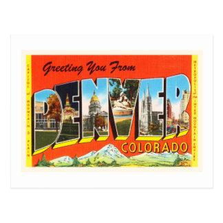 Carte Postale Vieux souvenir vintage de voyage de Denver le