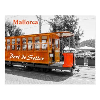 Carte Postale Vieux tram de Majorque de Port de Soller