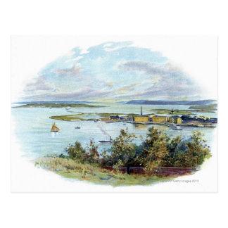Carte Postale Vignette pittoresque de Queenstown et de Cobh,