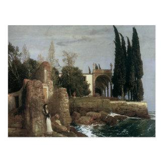 Carte Postale Villa de bord de la mer, Arnold Bocklin 1878