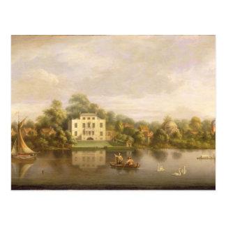 Carte Postale Villa de pape, Twickenham, c.1765 (huile sur la