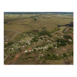 Carte Postale Village d'Amerindan. Saisonnier-inondé