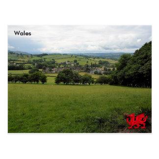 Carte Postale Village de Llanigon, Powys, Pays de Galles