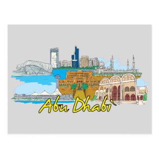 Carte Postale Ville célèbre d'Abu Dhabi, Emirats Arabes Unis