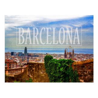 Carte Postale Ville de Barcelone