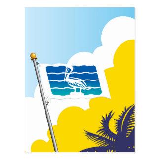 Carte Postale Ville de drapeau de la Floride de St Petersbourg