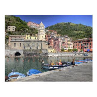 Carte Postale Ville de Hillside de Vernazza, Cinque Terre,