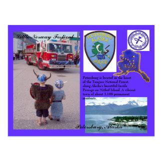 Carte Postale Ville de Pétersbourg, Alaska