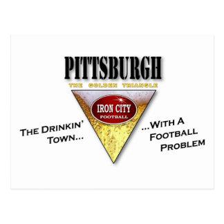 Carte Postale Ville de Pittsburgh Drinkin avec un problème du