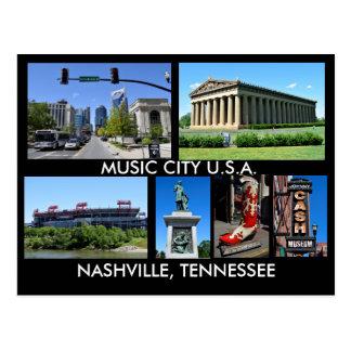 Carte Postale Ville Etats-Unis de musique de Nashville Tennessee