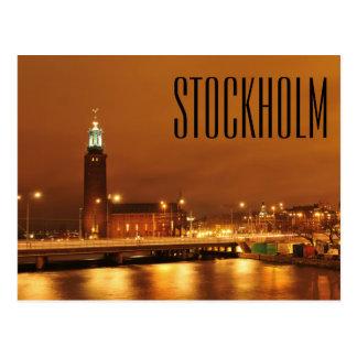 Carte Postale Ville hôtel, Suède de Stockholm