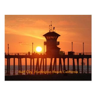 Carte Postale Ville Huntington Beach Ca de surf