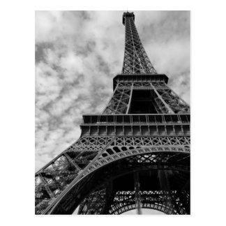 Carte Postale Ville noire et blanche de Paris de Tour Eiffel de
