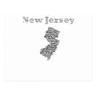 Carte Postale Villes de New Jersey