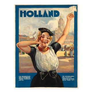 Carte postale vintage avec la copie d'affiche de l