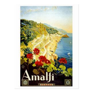 Carte postale vintage d'affiche de voyage de