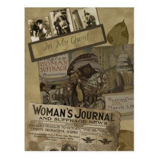 """Carte postale vintage d'album """"au suffrage des"""