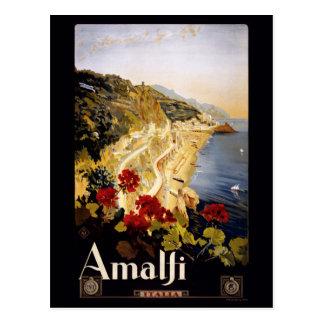 Carte postale vintage d'Amalfi Italie